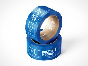 Duct Tape Rolls PSD Mockup
