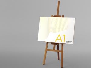 Easel & Canvas Scene Creator Mockup