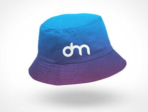 Embroidered Bucket Hat PSD Mockup