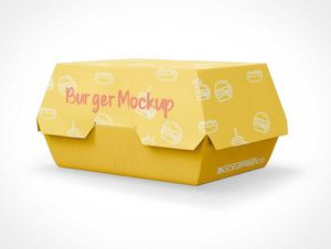Fast Food Burger Take-Out Packaging PSD Mockups