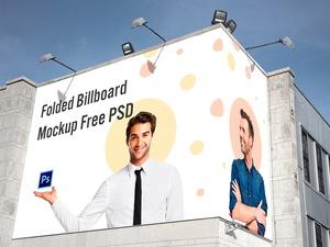 Folded Billboard Mockup