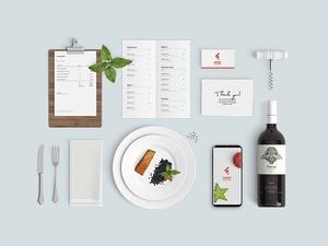 Restaurant Food Mockup & Food Nation App Logo Concept