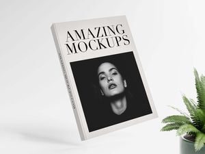 Free 5 Hardcover Books Mockup