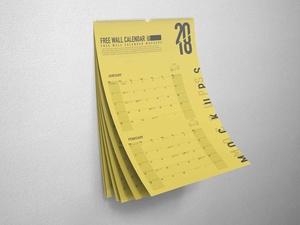 Free A3 Wall Calendar Mockup