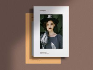 Free A4 Paper with Shadow Overlay Mockup
