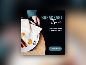 Free Breakfast Time Web Banner