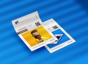 Free Double A4 Flyer Poster Mockup