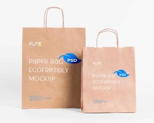 Free Eco Paper Bag Mockup