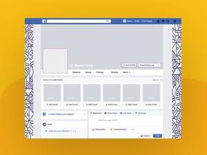 Facebook 2018 Profile Cover Mockup