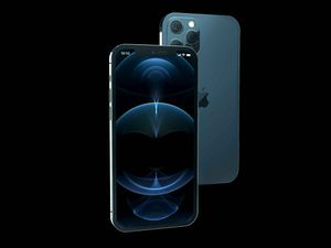 Free iPhone 12 Pro Isometric Mockup