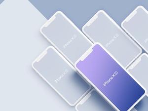 iPhone XS & iPhone XS Max Isometric Mockups