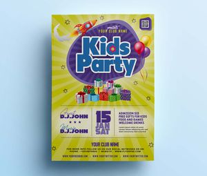 Free Kids Party Flyer Template