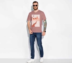 Kostenloses männliches T-Shirt Mode-Modell