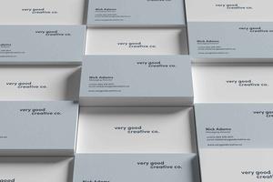 Free Minimalist Business Card Stacks Mockup
