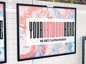 NYC Subway Ad Banner Mockup