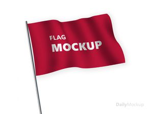Free PSD Flag Mockup Template