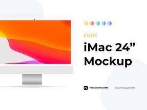 24 Inch iMac Mockup