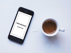 iPhone & Coffee Cup Mockup