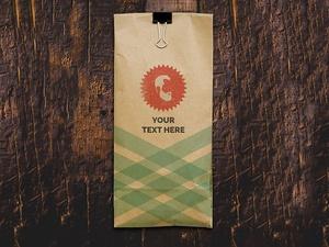 Kraft Paper Bag Mockup & Vector Logo
