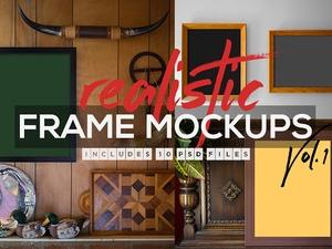 Realistic Frame Mockups Vol.1