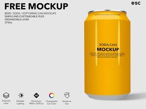 Soda & Beer Mockup