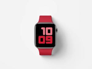 Top View Apple Watch Series 5 Mockup