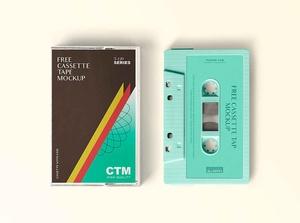 Free Vintage Cassette Tape Mockup