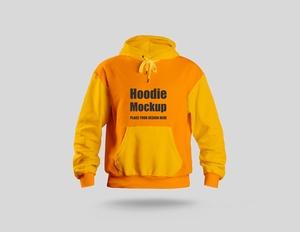 Free Full Sleeves Hoodie Mockup