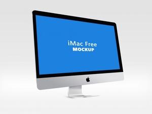 iMac Mockup Free PSD Template