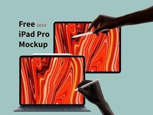iPad Pro 2018 Mockup Free PSD