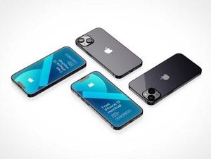iPhone 13 Laying Faceup PSD Mockups