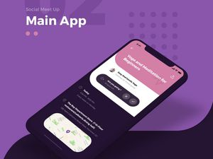 iPhone Mobile Free Mockup PSD Template