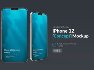 iPhone 12 Free PSD Concept Mock-Up