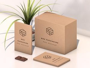 Isometric Box Packaging Mockup
