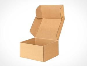 Kraft Cardboard Box Packaging PSD Mockup