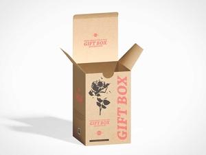 Kraft Reverse Tuck Gift Box PSD Mockup