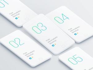 Minimalistic Isometric iPhone Mockup