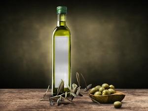 Olive Oil & Vinegar Bottle Label Mockup