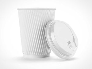 Paper Coffee Cup & Hot Sleeve PSD Mockup