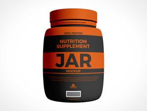 Protein Supplement Jar PSD Mockup