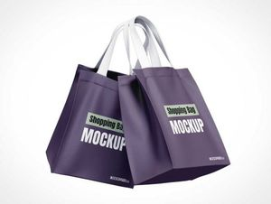 Reusable Fabric Shopping Bags PSD Mockups