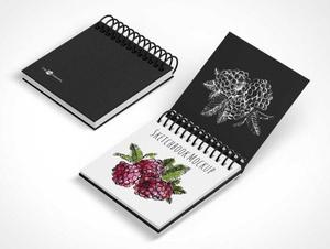 Ringed Sketchbook Design Pad PSD Mockups
