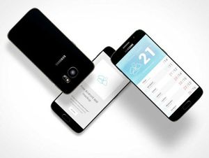 Samsung Android Mobile Smartphone PSD Mockups