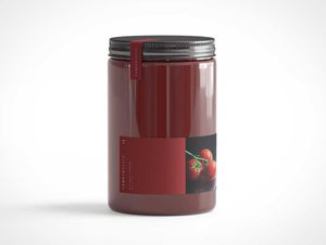 Sealed Glass Jar PSD Mockup
