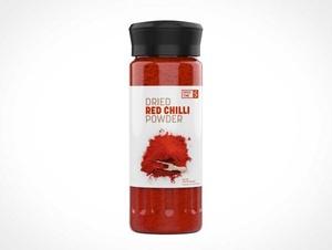 Sealed Glass Spice Jar PSD Mockups