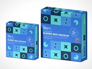 Slipcase Box Packaging PSD Mockups