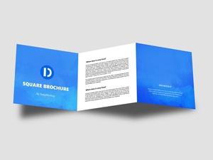 Square Brochure Mockup Free PSD