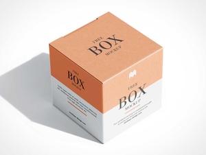 Square Gift Box PSD Mockups