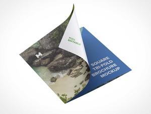 Tri-Fold Panel Brochure PSD Mockups