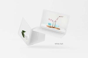 Zwei frei schwebende Macbook-Modell